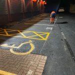 Leeds car park line marking